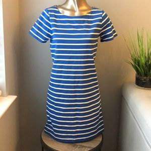 J. Crew Striped T-shirt Dress With Zippers